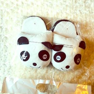 Shoes - ADULT SIZE PANDA SLIPPERS